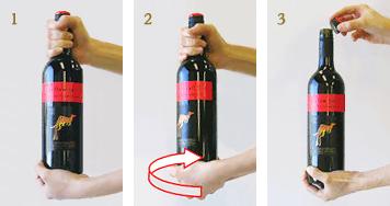 スクリューキャップの開け方 | サッポロのワイン | サッポロビール