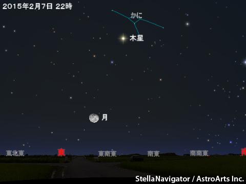2015年2月7日 木星がかに座で衝