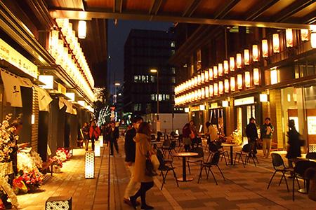 日本橋 桜フェスティバル「夜桜オープンバル」