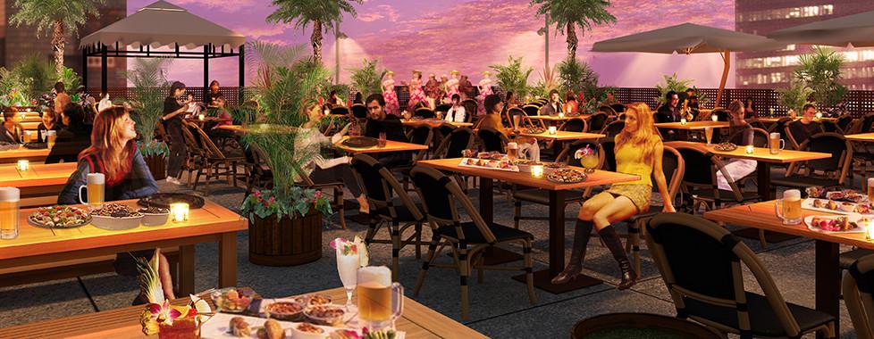 Aloha Hawaiian Beer Garden - アトレ川崎 ハワイアン料理が満載!!星空のリゾートビアガーデン
