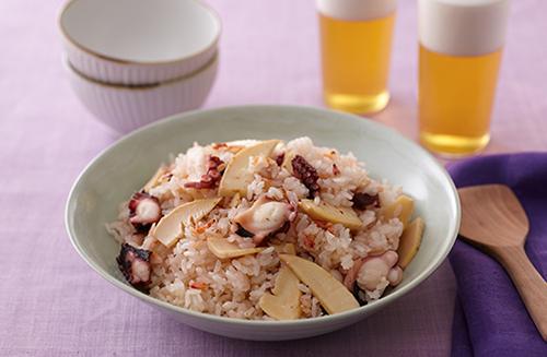 たけのことたこの炊き込みご飯 | お酒にピッタリ!おすすめレシピ | サッポロビール