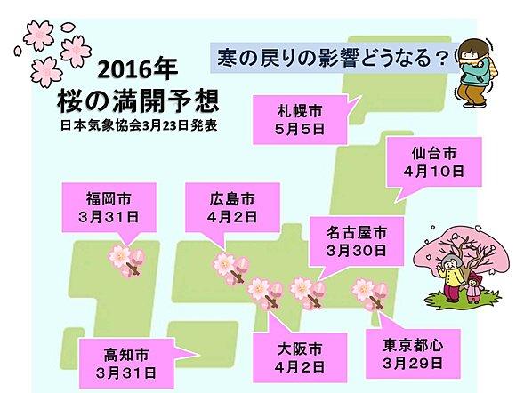 桜の満開はいつ? 日本気象協会発表(日直予報士) - tenki.jp