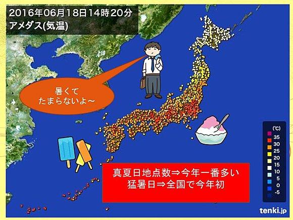 「猛暑」 体にこたえる暑さ(日直予報士) - 日本気象協会 tenki.jp