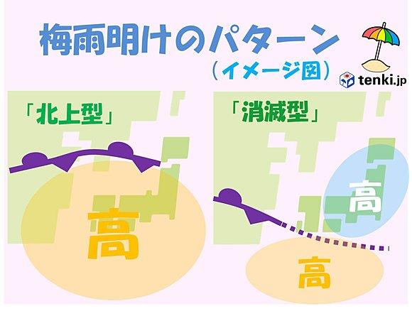 今年の梅雨明け 前線消滅型?(日直予報士) - tenki.jp