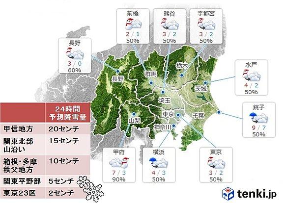 関東11月に極寒 雪も寒さも記録的か(日直予報士) - 日本気象協会 tenki.jp