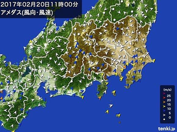 関東 徐々に強まる南風 ピークは夕方(日直予報士) - 日本気象協会 tenki.jp