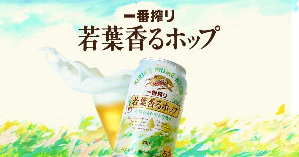 一番搾り 若葉香るホップ|商品情報|一番搾り|キリン
