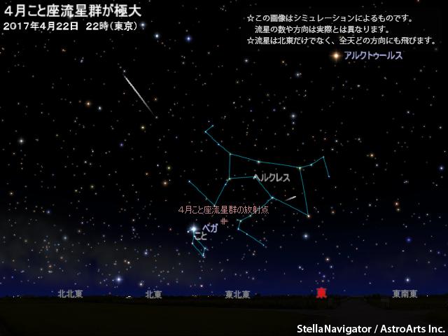 2017年4月22日 4月こと座流星群が極大 - AstroArts