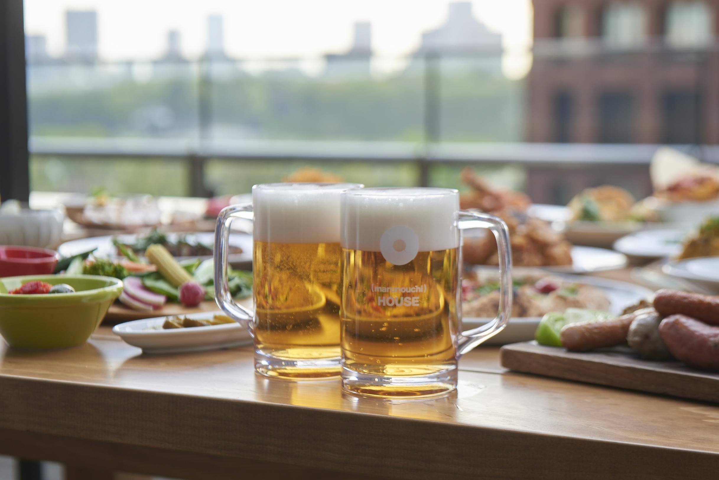 ― 丸の内ハウス10周年 ― リニューアルした開放的なテラスで、 東京駅丸の内駅舎を眺めながらビールを満喫! 「ビアテラス in 丸の内ハウス2017」