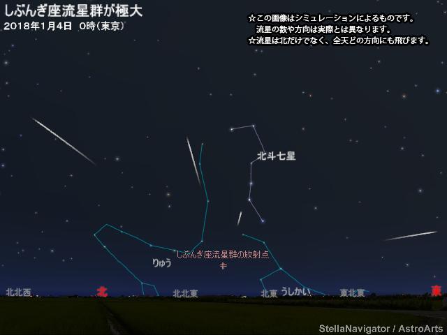 2018年1月4日 しぶんぎ座流星群が極大 - アストロアーツ