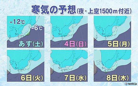 「大寒波」再び 大荒れ・大雪・極寒へ(日直予報士) - 日本気象協会 tenki.jp