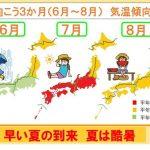 今年の夏 到来早く「酷暑」に 3か月予報(日直予報士)