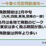 日本気象協会 2019花粉飛散予測 3報(日直予報士)