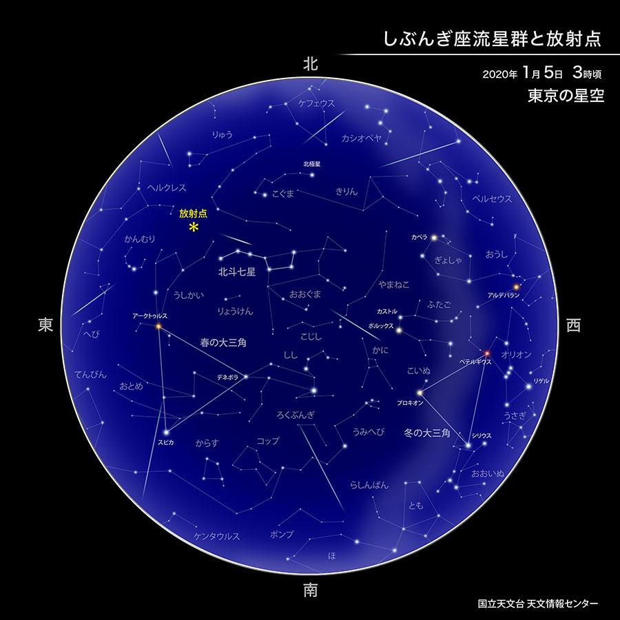 しぶんぎ座流星群が極大(2020年1月) | 国立天文台(NAOJ)