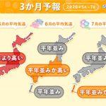 暑い5月 梅雨は雨量多くなる 3か月予報(日直予報士 2020年04月24日) - 日本気象協会 tenki.jp