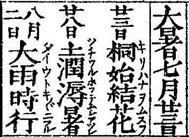 二十四節気「大暑」2020/7/22