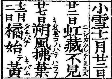 二十四節気「小雪」2020/11/22