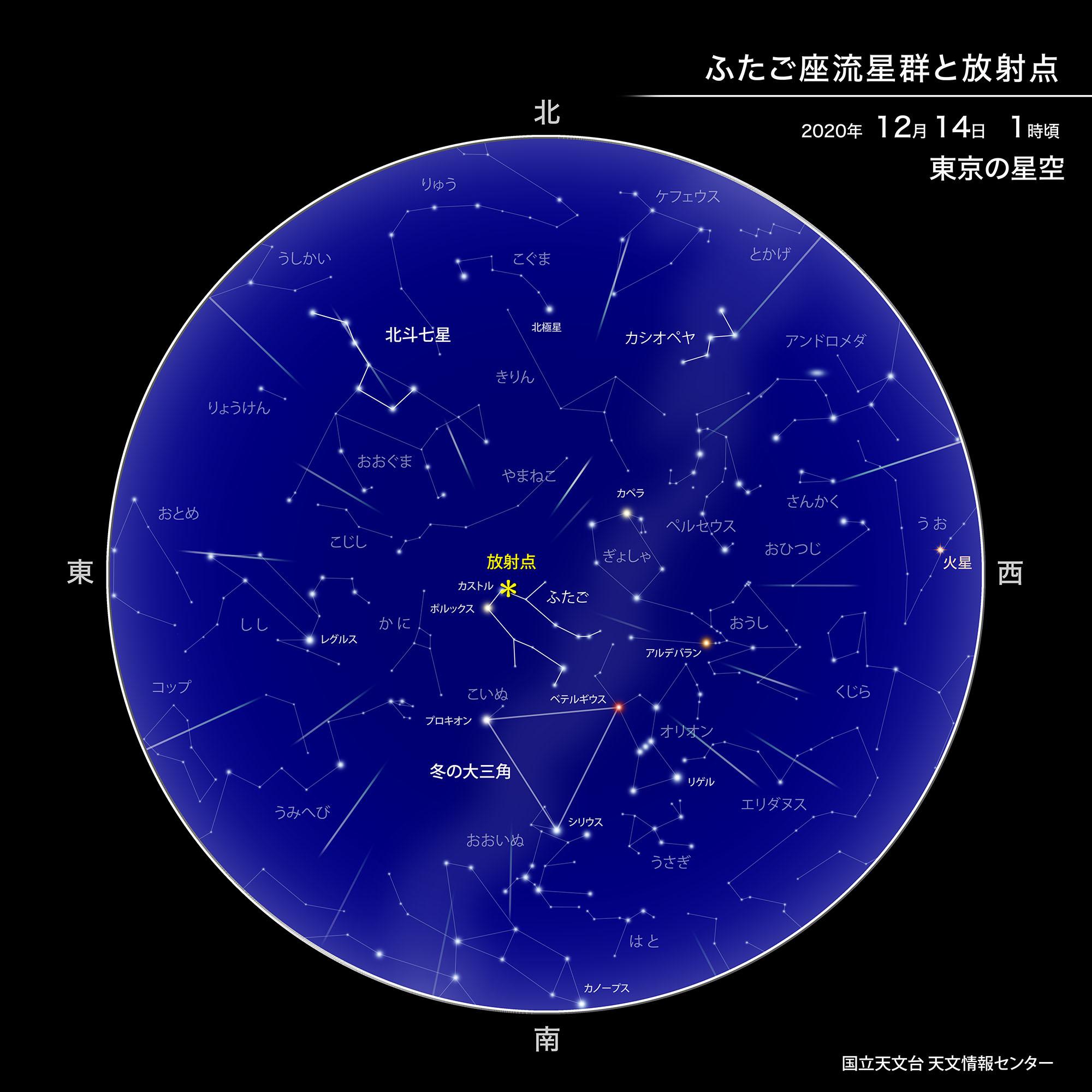 ふたご座流星群が極大(2020年12月) | 国立天文台(NAOJ)