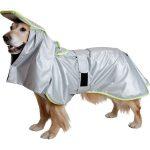 【防災グッズ】アイアンバロン特許取得「防災マント」頭からかぶせてサッと羽織ることができる大型犬専用防災・防寒マント